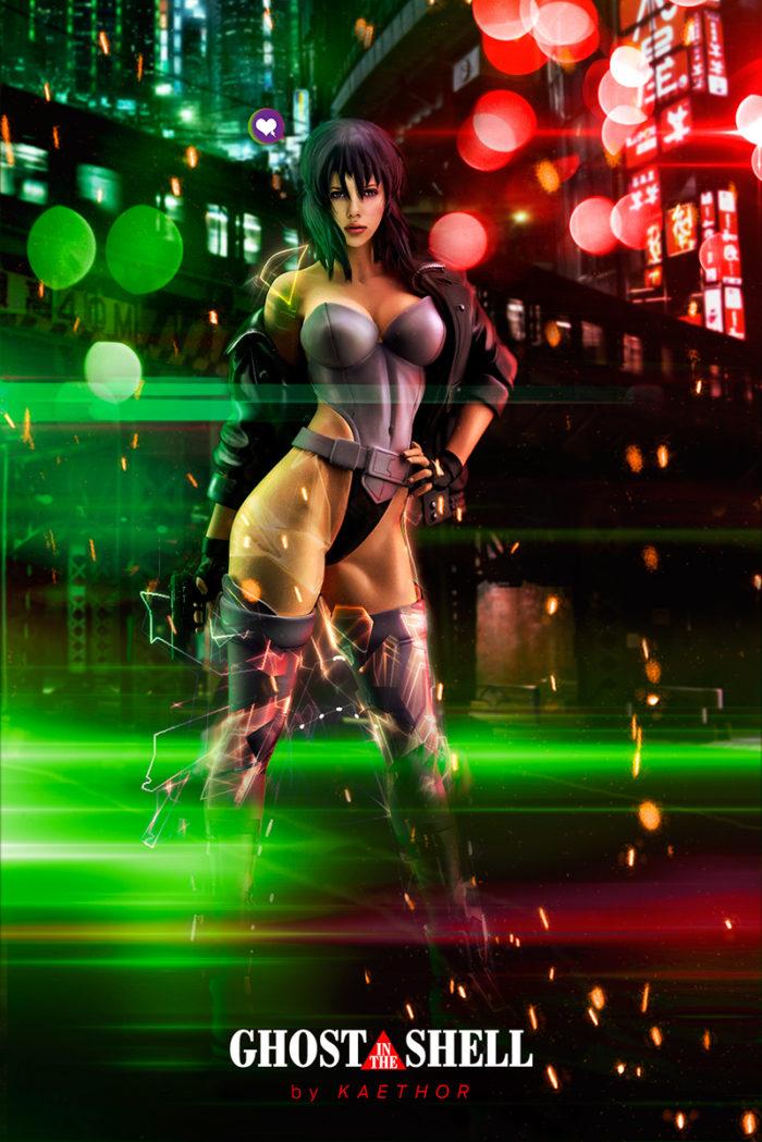 Scarlett Johansson as Motoko Kusanagi – Ghost in the Shell Poster