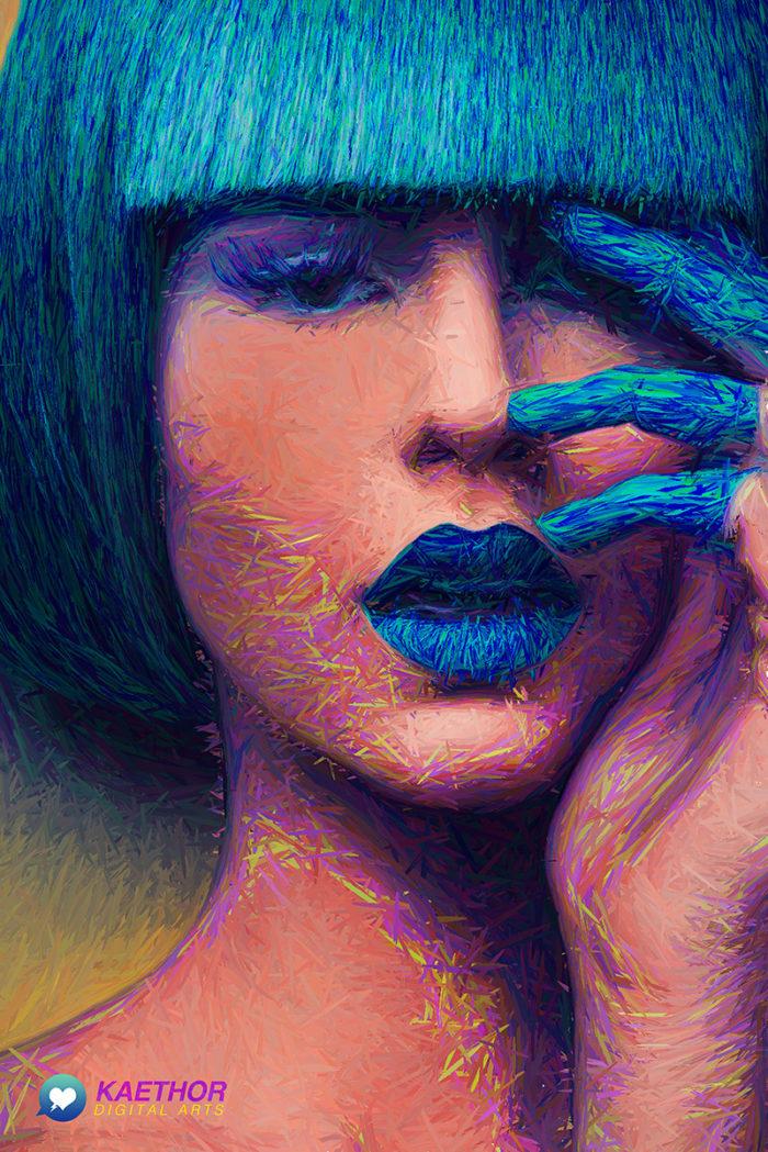 Blue – Illustration Poster