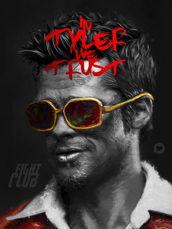 In Tyler we Trust – Fight Club – Illustration Poster
